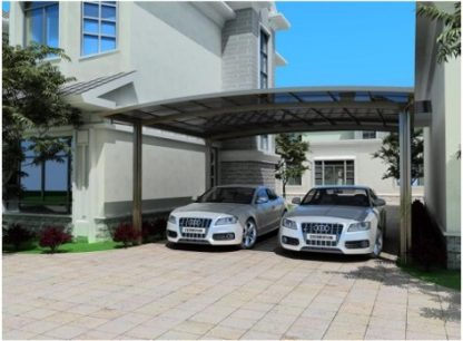 Double Curved Carport